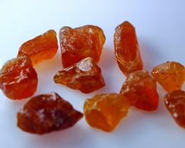 102 CT Natural - Unheated Orange Garent Rough Lot
