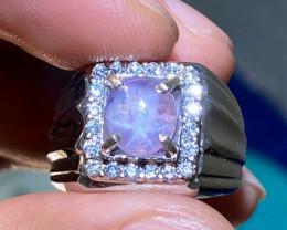 Certifed Natural Purple Star Sapphire  Srilanka No heat