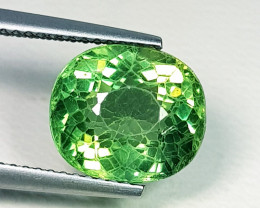 5.03 ct Top Quality  Oval Cut Natural Green Apatite
