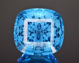 Natural Blue Topaz 27.16 Cts Perfect Precision Cut