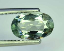 2.45 Carats Oval Cut Natural Top Grade Color Greenish Aquamarine Beryl Gems