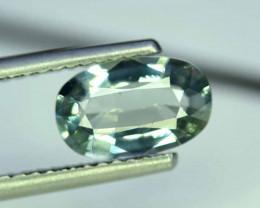 2 Carats Oval Cut Natural Top Grade Color Greenish Aquamarine Beryl Gems