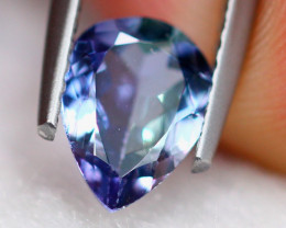 1.10Ct Natural Violet Blue Tanzanite Pear Cut Lot LZ6733