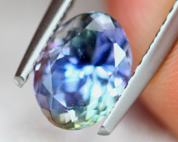 1.37Ct Natural Violet Blue Tanzanite Oval Cut Lot LZ6736
