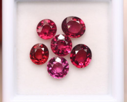4.47Ct Natural Rhodolite Garnet Oval Round Cut Lot B2712