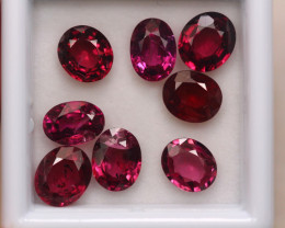 8.59Ct Natural Rhodolite Garnet Oval Cut Lot A531