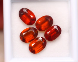 5.66Ct Natural Hessonite Garnet Oval Cut Lot B2711