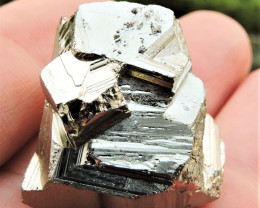 35.63g PYRITE CUBE FROM MADEM LAKKOS MINE MACEDONIA GREECE