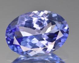 Natural Tanzanite 2.55 Cts Top Grade  Faceted Gemstone