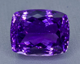 21.93 Crt  Amethyst Faceted Gemstone (Rk-67)