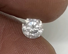 (A) Certified $744 Nat  0.47cts  SI2 White Loose Diamond Round Brilliant