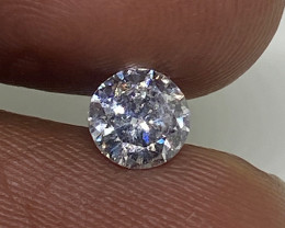(B) Certified Nat $1034  Fiery 0.57cts  SI2  White Loose Diamond Round