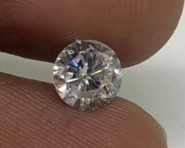 (D)  Certified  Nat $1143 Fiery 0.63cts SI2  White Loose Diamond Round