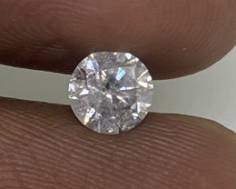 (F) Certified Nat $1052  Fiery 0.58cts SI2  White Loose Diamond Round