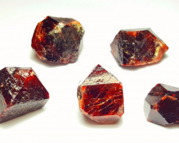 Amazing Rare Natural color 5 piece of Lovely Zircon Crystals 480Cts-P