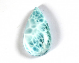 Exquisite Natural Light Blue Larimar Teardrop Cabochon 36x20x9mm