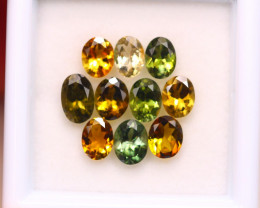 3.35ct Natural Multi Color Tourmaline Oval Cut Lot D362