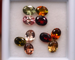 3.14ct Natural Multi Color Tourmaline Oval Cut Lot D363