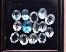 4.61ct Natural Blue Aquamarine Oval Cut Lot D366