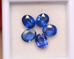 3.95ct Natural Blue Sapphire Cut Lot D370