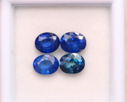 3.61ct Natural Blue Sapphire Oval Cut Lot D371