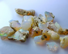 30.60 CT Natural - Unheated White Opal Rough Lot