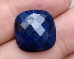 23Ct SAPPHIRE BLUE ROSE CUT GENUINE GEMSTONE VA2108