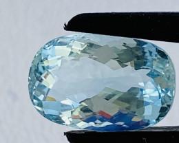 GIL Certified 7.13 Carats Aquamarine Gemstone