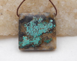 51.5cts Beautiful Turquoise Pendant ,Natural Gemstone ,Turquoise Pendant G9