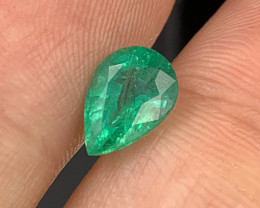 1.76 Cts Top Quality Vivid Green Natural Emerald Zambia