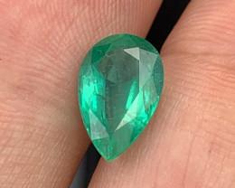 2.27 Cts AAA Grade Vivid Green Natural Emerald Zambia