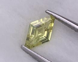 Designer Cut Unheated/Untreated Canary Yellow Sapphire 0.68 Cts Srilanka