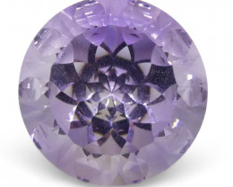 7.55ct Round Amethyst Fantasy/Fancy Cut - $1 No Reserve Auction