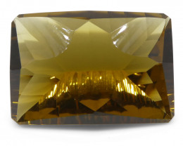 25.83ct Emerald Cut Citrine Fantasy/Fancy Cut