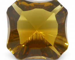 6.55ct Square Citrine Fantasy/Fancy Cut