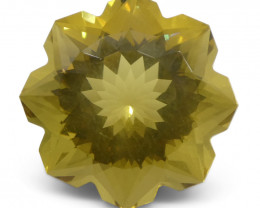 6.24ct Flower Lemon Citrine Fantasy/Fancy Cut-$1 No Reserve Auction