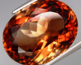 23.09 ct. 100% Natural Earth Mined Topaz Orangey Brown Brazil