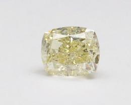 1.00ct Natural Fancy Light Yellow Diamond IGI certified