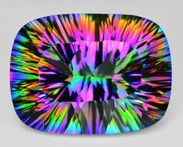 19.16 Cts Amazing Rare Millienium Cut Fancy Color Natural Quartz