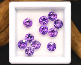 Amethyst 3.13Ct Calibrated Round 4.5mm Natural Purple Amethyst Lot A2202