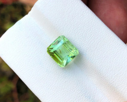 3.65 Ct Natural Greenish Transparent Tourmaline Gemstone