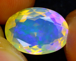 Welo Opal 3.50Ct Natural Faceted Ethiopian Play of Color Opal DR223/A3