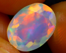 Welo Opal 1.68Ct Natural Faceted Ethiopian Play of Color Opal DR226/A3