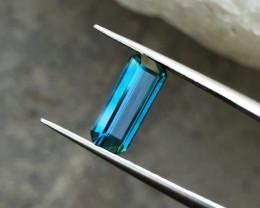 1.80 Ct Natural Blue Transparent Top Quality Tourmaline Gemstone