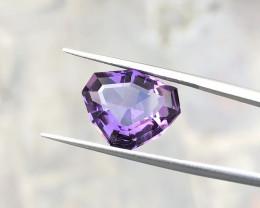 5.45 Ct Natural Purple Transparent Custom Cut Amethyst Gemstone