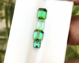 3 Ct Natural Green Transparent Tourmaline Gemstones Parcels