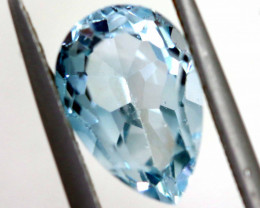 4 CTS  SWISS BLUE TOPAZ FACETED IRRIDATED  ADG-735