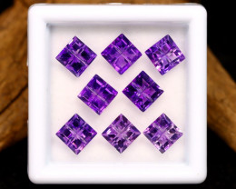 Amethyst 3.94Ct Calibrated Fancy 5x5mm Natural Purple Amethyst Lot B2203