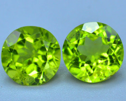 Pair Peridot~5.60 Ct Natural Green