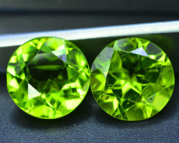 Pair Period~5.20 Ct Natural Green